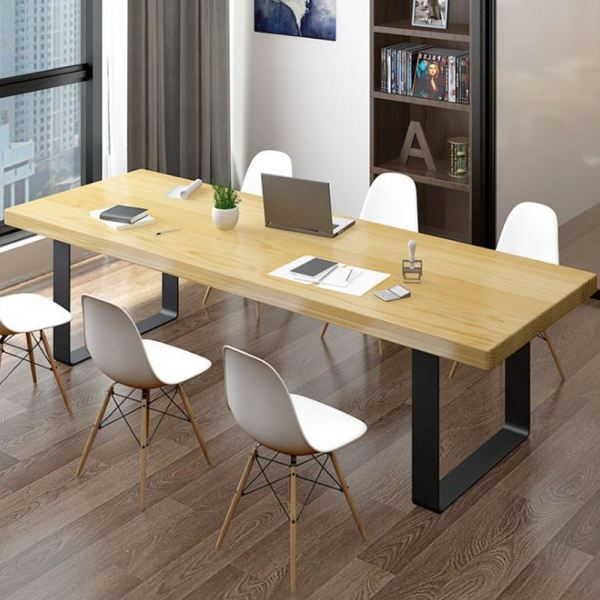 Black Frame Nazis Solid Rubber Wood Meeting Table Set With 6 Eames Dining Chairs Office Table Office Furniture Malaysia, Selangor, Kuala Lumpur (KL) Supplier, Suppliers, Supply, Supplies | Like Bug Sdn Bhd