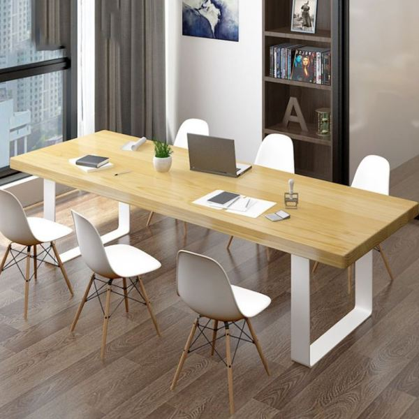 White Frame Nazis Solid Rubber Wood Meeting Table Set With 6 Eames Dining Chairs Office Table Office Furniture Malaysia, Selangor, Kuala Lumpur (KL) Supplier, Suppliers, Supply, Supplies | Like Bug Sdn Bhd