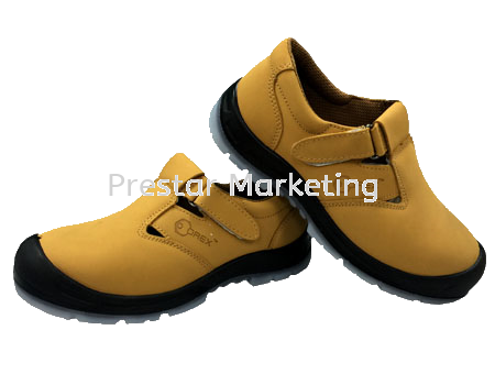 LEATHER SAFETY SHOES LOW-CUT STRAP-ON #710A