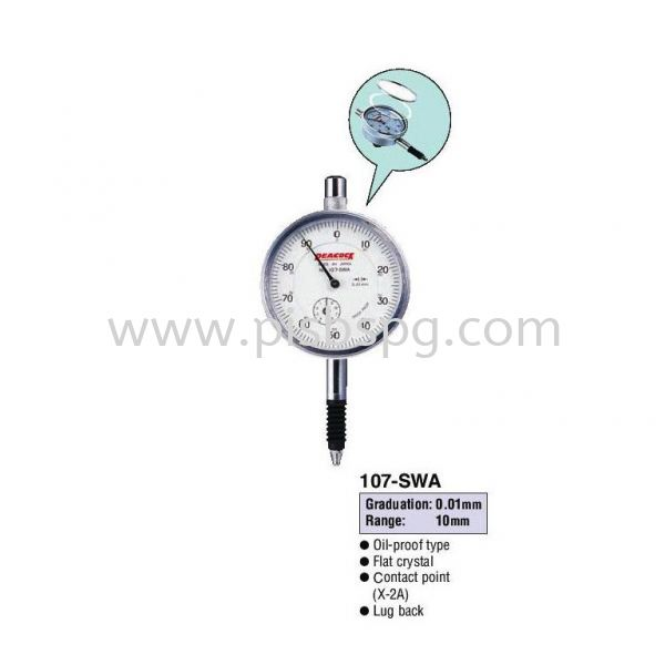 Standard Dial Gauges 107-SWA High Precision Type Standard Dial Gauges Dimension Measurement Selangor, Malaysia, Kuala Lumpur (KL), Shah Alam Supplier, Suppliers, Supply, Supplies | Peacock Industries Sdn Bhd