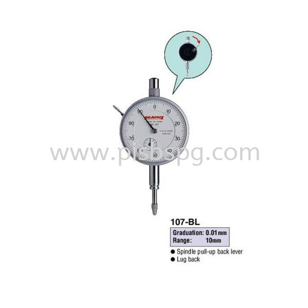 Standard Dial Gauges 107-BL High Precision Type Standard Dial Gauges Dimension Measurement Selangor, Malaysia, Kuala Lumpur (KL), Shah Alam Supplier, Suppliers, Supply, Supplies | Peacock Industries Sdn Bhd