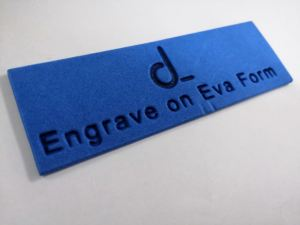 Engrave on Eva form