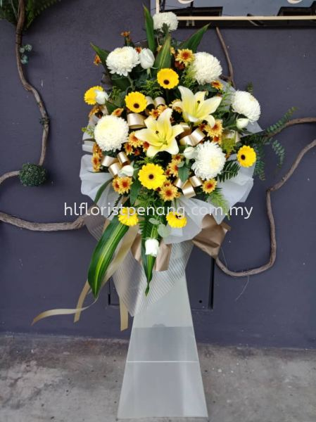 FS001 Funeral Stand Penang, Butterworth, Malaysia Supplier, Suppliers, Supply, Supplies | HL Florist & Gift