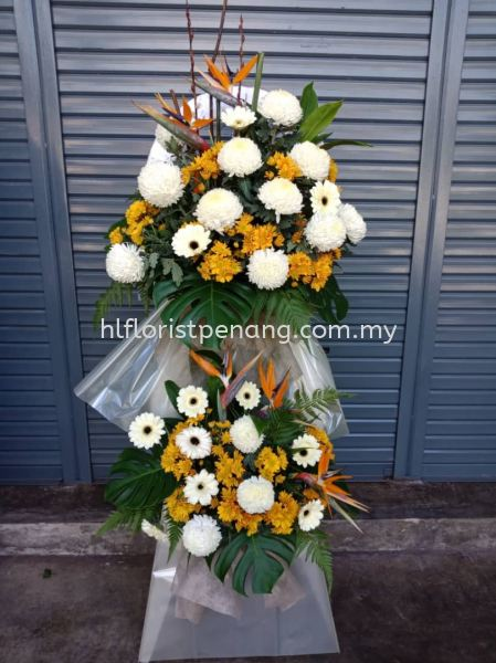 FS005 Funeral Stand Penang, Butterworth, Malaysia Supplier, Suppliers, Supply, Supplies | HL Florist & Gift