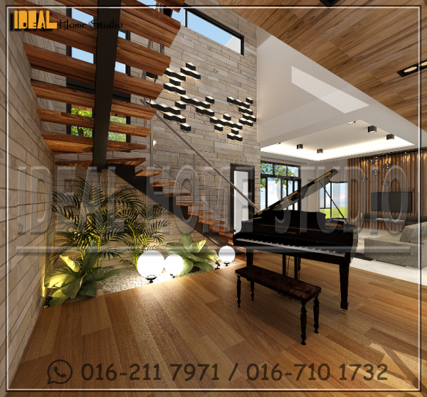 10 Staircase R1. 2 STOREY BUNGALOW RESIDENTIAL Klang, Selangor, Kuala Lumpur (KL), Malaysia Contractor, Service | Ideal Home Studio