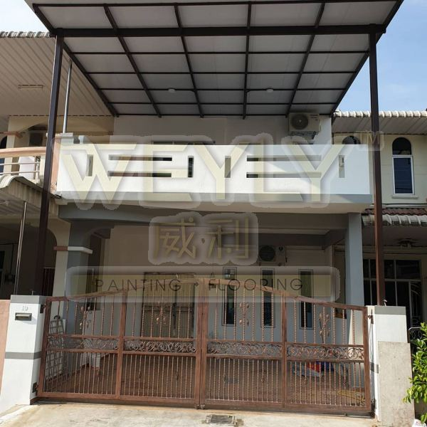2-Storeys Terrace House Re-Painting Works Residential Painting Works Penang, Malaysia, Bukit Mertajam Services | WEYLY SDN BHD