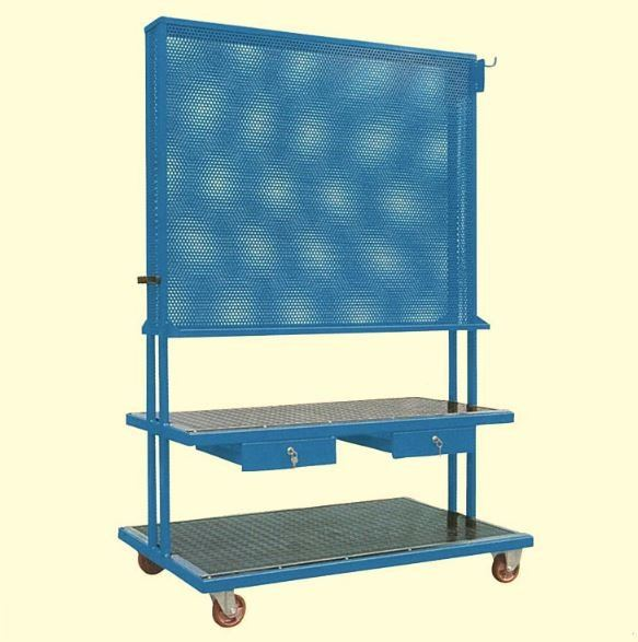 OMCN TOOL PANEL HOLDER TROLLEY WITH TWO DRAWER  (PANEL SIZE: L 1200 X W 985MM), ART C10 (ITALY) TOOL / STORAGE BOX MANUAL TOOLS Singapore, Kallang Supplier, Suppliers, Supply, Supplies | DIYTOOLS.SG
