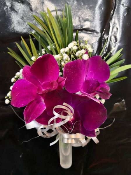 Orchid Pom Corsage (CC-015) Corsage Corsage Kuala Lumpur (KL), Selangor, Malaysia Supplier, Suppliers, Supply, Supplies   Shirley Florist