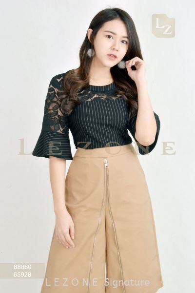 88860 BELL SLEEVE STRIPED BLOUSE¡¾2ND 50%¡¿ Top On Sale S A L E  Selangor, Kuala Lumpur (KL), Malaysia, Serdang, Puchong Supplier, Suppliers, Supply, Supplies | LE ZONE Signature