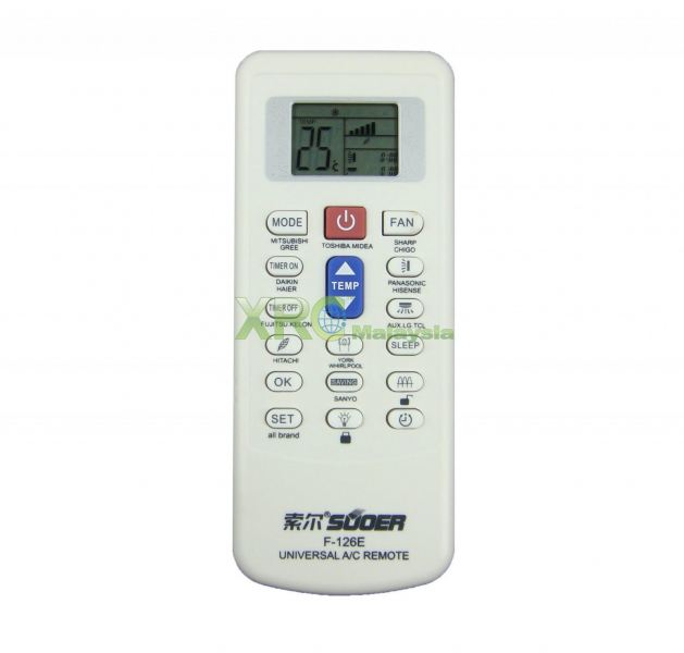 F-126E SUOER UNIVERSAL AIR CONDITIONING REMOTE CONTROL  SUOER UNIVERSAL AC AIR CONDITIONING REMOTE CONTROL Johor Bahru JB Malaysia Manufacturer & Supplier | XET Sales & Services Sdn Bhd