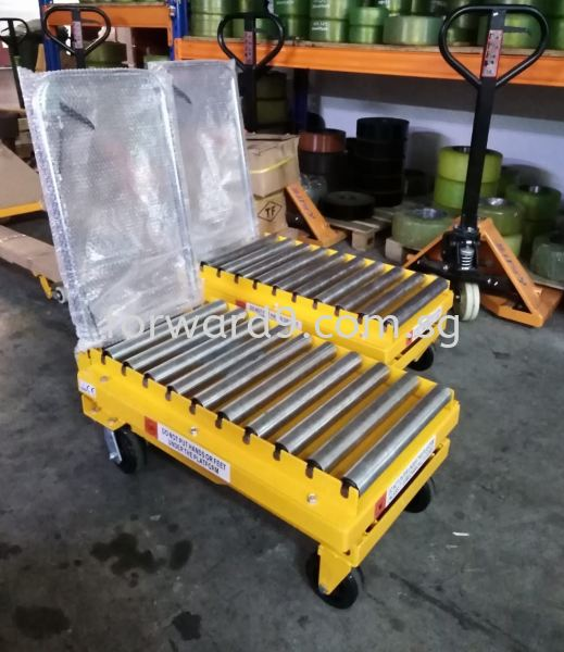 Manual Lift Table with Conveyor Roller Customization Material Handling Equipment Singapore, Malaysia, Johor Bahru (JB) Supplier, Manufacturer, Supply, Supplies | Forward Solution Engineering Pte Ltd