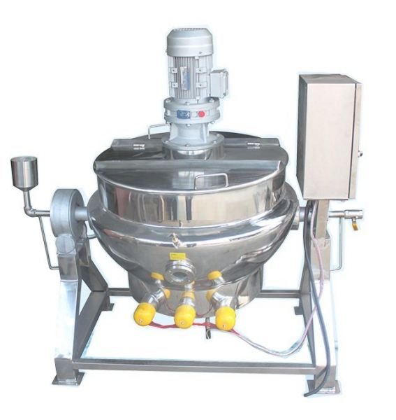 JACKETTED STAINLESS STEEL COOKING TANK C/W HEATER AND TILTED STAND (CODE: 1110) Mixing tank / homogenizer Seri Kembangan, Selangor, Kuala Lumpur, KL, Malaysia. Supplier, Manufacturer, Repair | IAE Industries Trading & Services