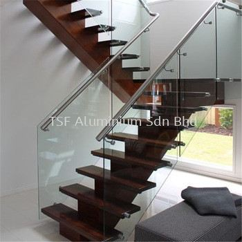 Staircase Glass Railing Glass Staircase Johor Bahru (JB), Malaysia, Mount Austin Supplier, Installation, Design, Contractor | TSF Aluminium Sdn Bhd