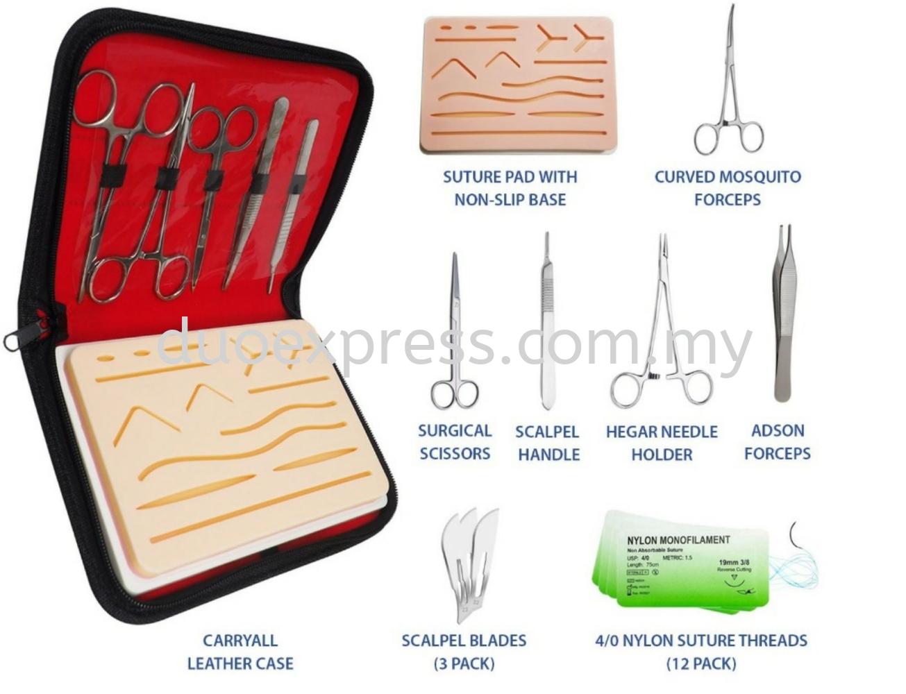 Suture kit + Pre made skin incision skin pad