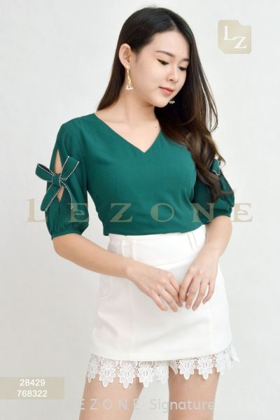 28429 SLEEVE DETAIL BLOUSE¡¾1st 35% 2nd 45% 3rd 55%¡¿ Top On Sale S A L E  Selangor, Kuala Lumpur (KL), Malaysia, Serdang, Puchong Supplier, Suppliers, Supply, Supplies   LE ZONE Signature