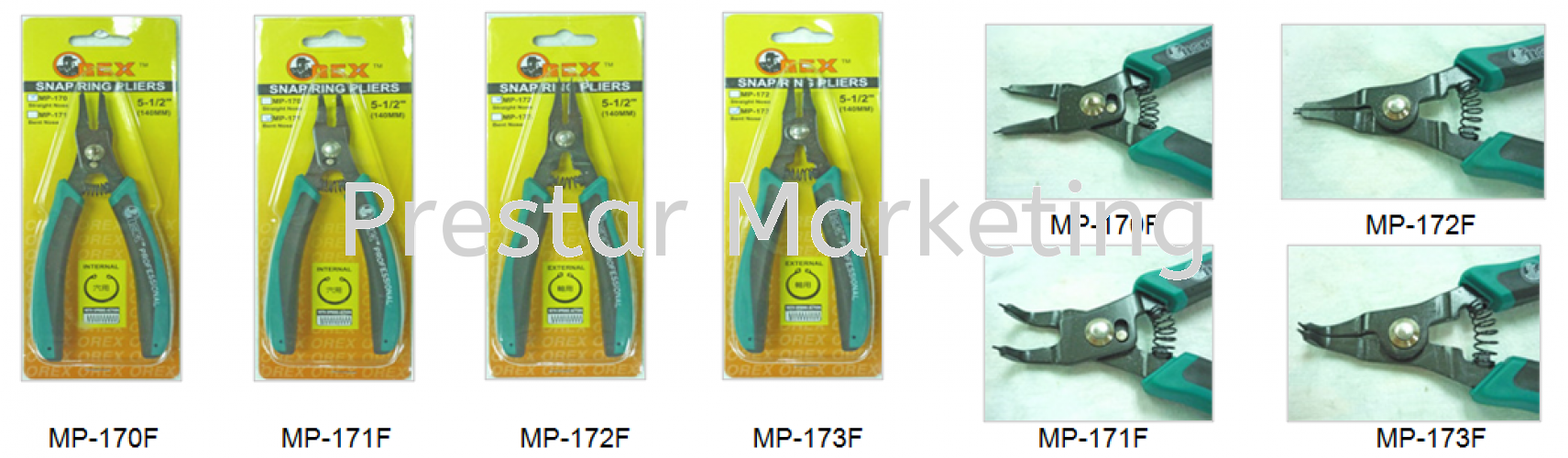 MP170F SERIES SNAP RING PLIERS