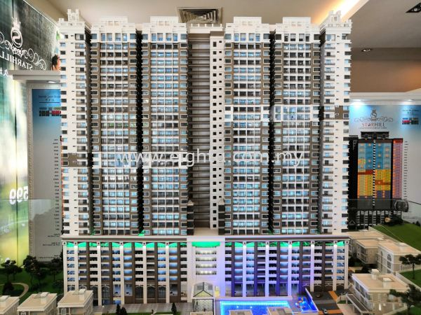 Star Hill Aroma Development Building Model Layout Malaysia, Penang Building, Model, Maker, Services | Eight A Model Sdn Bhd