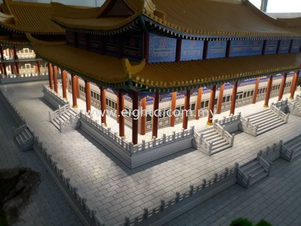 Cameron Highland - Buddhist Temple 天后宫 Cameron Highland - Buddhist Temple Building Model Layout Malaysia, Penang Building, Model, Maker, Services   Eight A Model Sdn Bhd