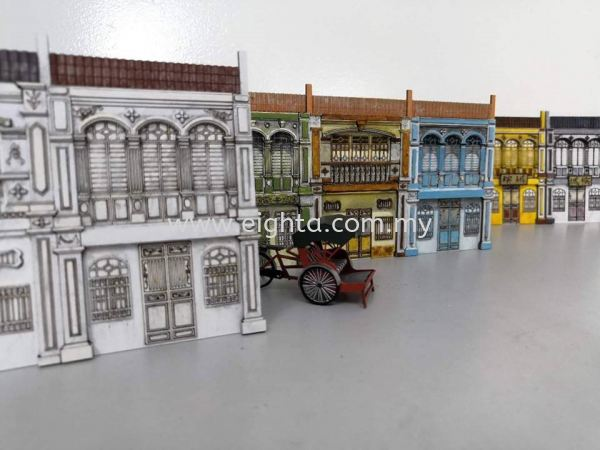 Heritage 2D Pre War Houses Heritage 2D Pre War Houses Building Model Layout Malaysia, Penang Building, Model, Maker, Services | Eight A Model Sdn Bhd