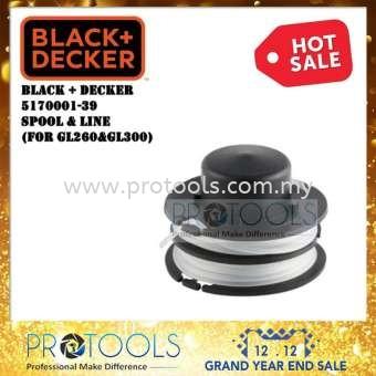 5170001-39 BLACK & DECKER GL260 SPOOL & LINE GARDENING ACCESSORIES OUTDOOR EQUIPMENT Johor Bahru (JB), Malaysia, Senai Supplier, Suppliers, Supply, Supplies | Protools Hardware Sdn Bhd