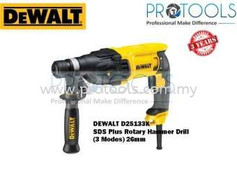 DEWALT D25133K SDS PLUS ROTARY HAMMER DRILL (3 MODES) 26mm - 3 YEARS WARRANTY DeWalt Rotary Tools Johor Bahru (JB), Malaysia, Skudai Supplier, Suppliers, Supply, Supplies | Protools Hardware Sdn Bhd