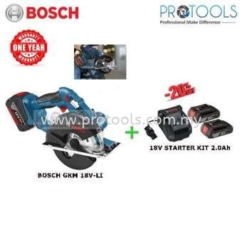 BOSCH GKM18V-LI CORDLESS CIRCULAR SAW + 18V STARTER KIT 2.0Ah Bosch  Saws Johor Bahru (JB), Malaysia, Skudai Supplier, Suppliers, Supply, Supplies   Protools Hardware Sdn Bhd