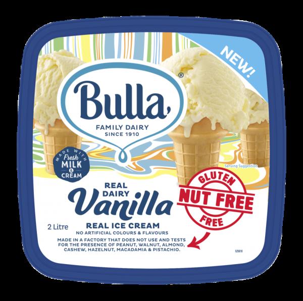 Bulla Real Dairy Nut Free Vanilla 2L Bulla Premium Ice Cream  Kuala Lumpur (KL), Selangor, Malaysia Supplier, Supply, Supplies, Distributor | Five Star Gourmet Sdn Bhd