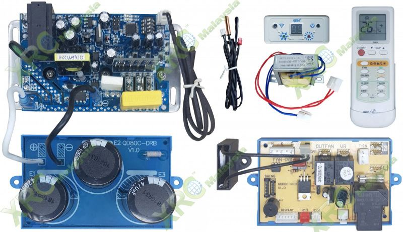 QD80CC UNIVERSAL DC INVERTER INDOOR/OUTDOOR UNIT AIR CONDITIONING CPU PCB BOARD PCB BOARD AIR CONDITIONING SPARE PARTS Johor Bahru JB Malaysia Manufacturer & Supplier | XET Sales & Services Sdn Bhd