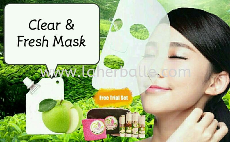 Facial Mask : Clear & Fresh Mask ( 12 session + Free gift ) Facial Package Session In-House Treatment Kuala Lumpur (KL), Selangor, Penang, Malaysia Supplier, Suppliers, Supply, Supplies | La Herballe