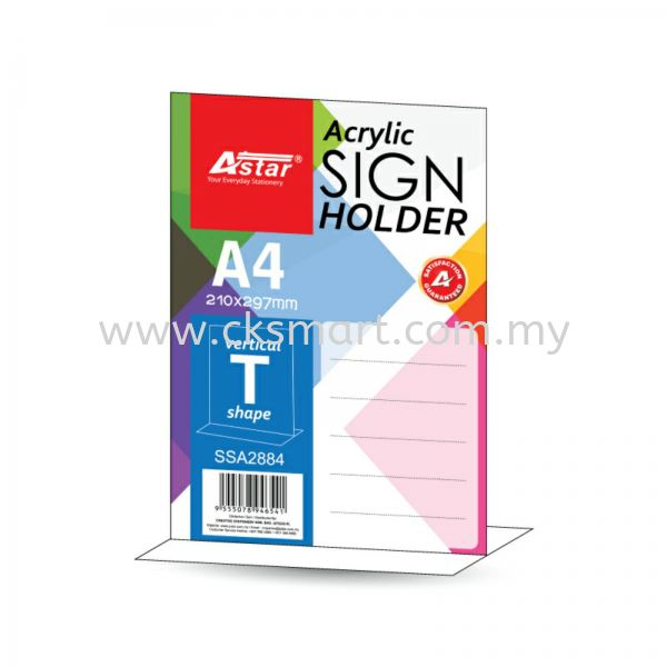 A4 ACRYLIC SIGN HOLDER T-SHAPE Files Johor Bahru (JB), Malaysia, Skudai Supplier, Suppliers, Supply, Supplies | CK Smart Trading