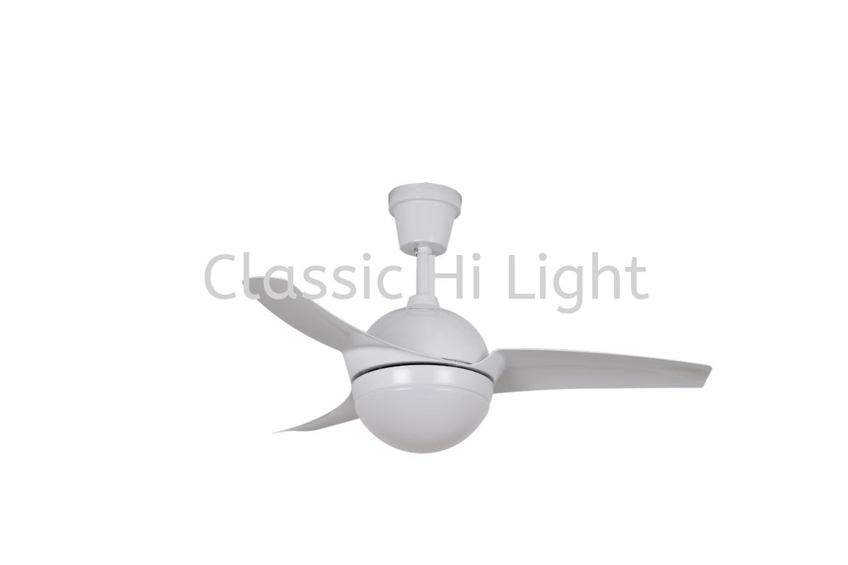 "Acorn Ventilateur AC-238 42"" 3 Blade AC Motor Ceiling Fan : White"