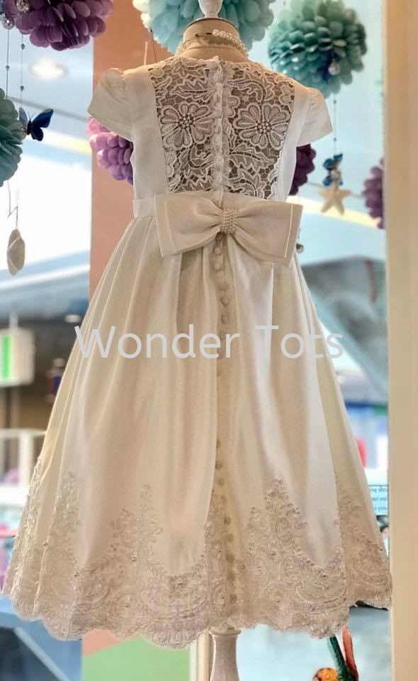 Girl Party Dress - Ivory