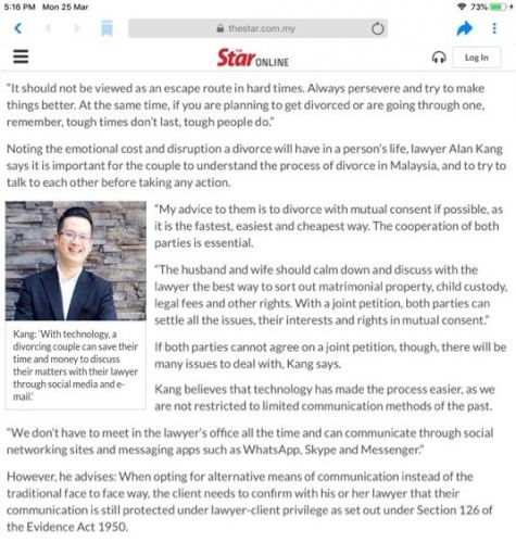 Media Interview- The Star Online