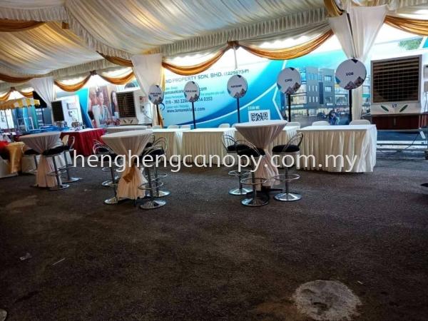 Table or chairs for rent Penang, Pulau Pinang, Sungai Bakap, Malaysia. Rental, Supplier, Supply, Setup, Service | Heng Heng Canopy