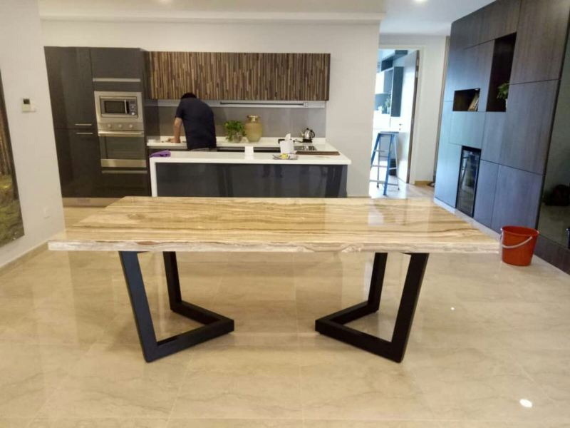 Beige Marble Dining Table  Marble Dining Table UK (United Kingdom) Supplier, Suppliers, Supply, Supplies | Decasa Marble