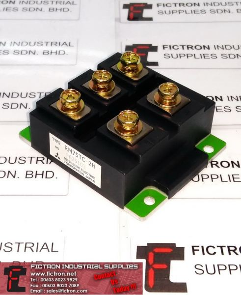 RM75TC-2H DIODE MODULE MEDIUM POWER Supply, By Fictron Industrial Supplies MITSUBISHI Diode Selangor, Penang, Malaysia, Singapore Supply, Supplier, Suppliers, Repair | Fictron Industrial Supplies Sdn Bhd
