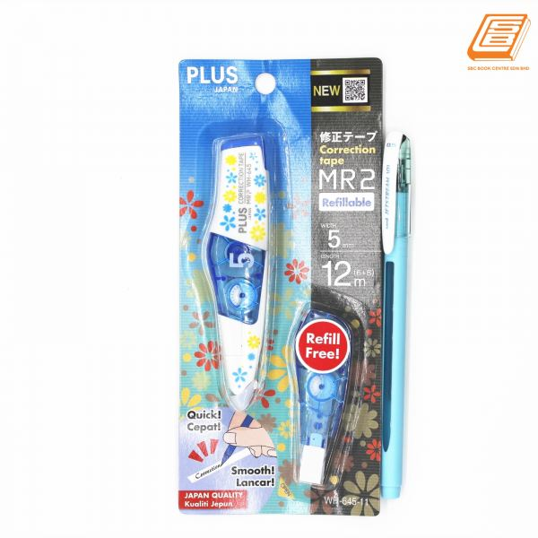 PLUS - Correction Tape -MR2 Refillable - 5mm x 6m - (WH-645) Correction Tapes & Pens Office & Desk Stationery Johor Bahru (JB), Malaysia, Taman Sentosa Supplier, Retailer, Supply, Supplies | SBC Book Centre Sdn Bhd