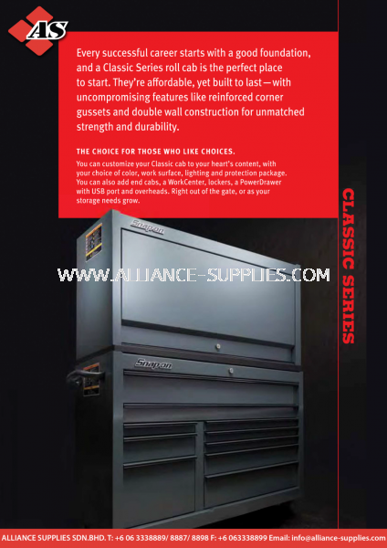 1.01.3 SNAP-ON Classic Series 1.01.3 SNAP-ON Classic Series 1.01 SNAP-ON Tool Storage 01.SNAP-ON / WILLIAMS / SIOUX Malaysia Melaka Johor Selangor Supplier, Supply, Supplies | Alliance Supplies Sdn Bhd