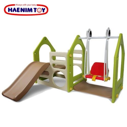 DS702A Haenim (Korea) Play House with a Swing Slide / Swing  Playground Indoor  Johor Bahru JB Malaysia Supplier & Supply | I Education Solution