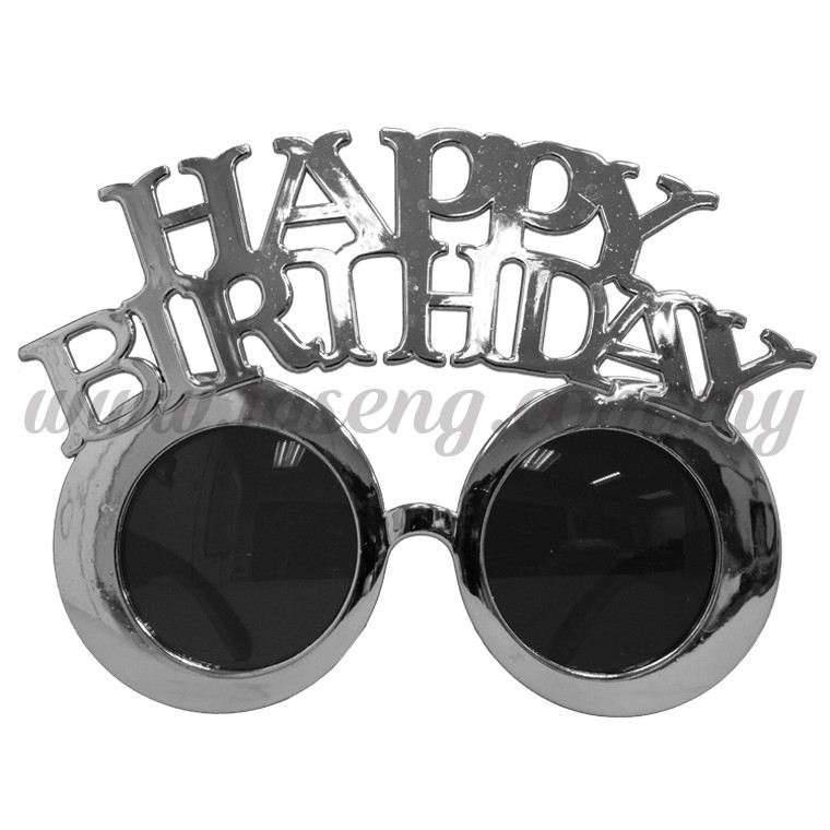 Sunglasses Happy Birthday - Silver (DU-SGHB-06SI)