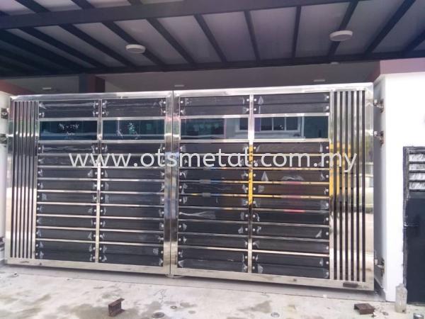 SSG034 Stainless Steel Gate Johor Bahru (JB) Design, Supplier, Supply   OTS Metal Works