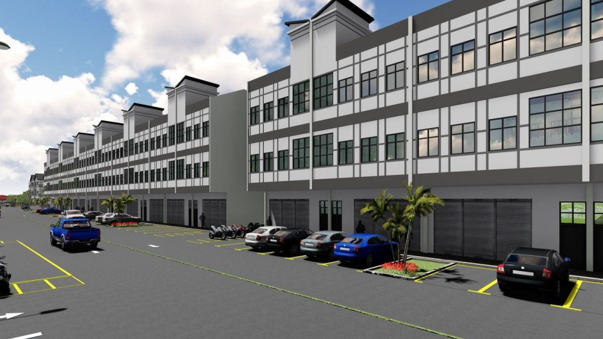 3 Storey Terrace Factory Agro Industrial Park Pahang, Malaysia, Cameron Highlands Developer, Development | Bandar Lojing Development Sdn Bhd