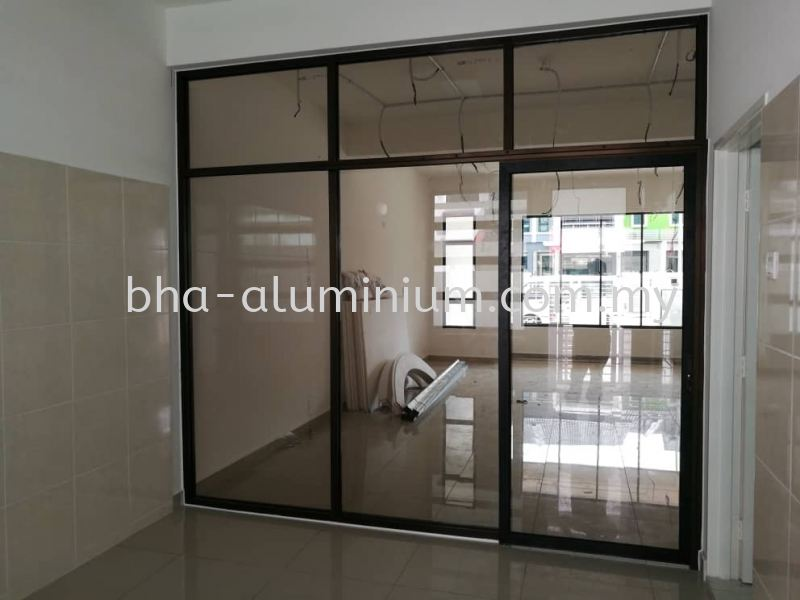 Aluminium Kedai Depan Johor Bahru (JB), Johor, Muar Supplier, Suppliers, Supply, Supplies | BHA Aluminium & Glass Sdn Bhd