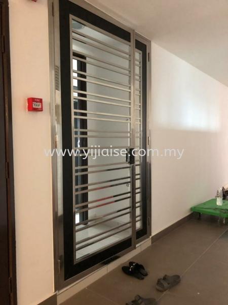 OPEN DOOR Both Side Open Door Door Stainless Steel Works Johor Bahru (JB), Malaysia, Skudai, Taman Pelangi Service, Contractor | Yijia Iron Steel Engineering Sdn Bhd