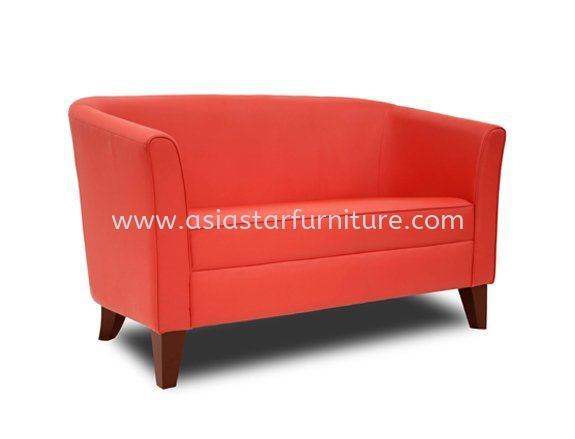 AEZO TWO SEATER SOFA C/W WOODEN BASE 2-C