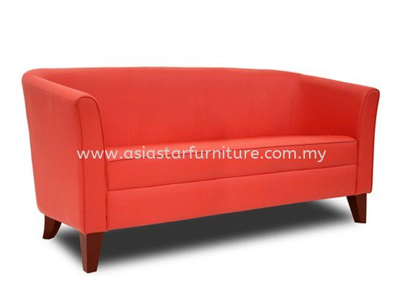 AEZO THREE SEATER SOFA C/W WOODEN BASE 3-C