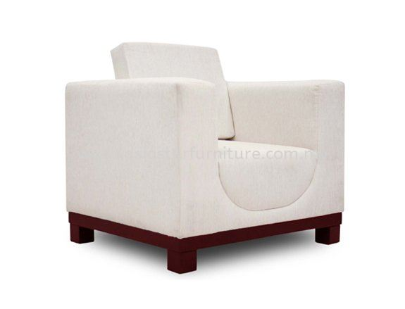 ALEXIS ONE SEATER SOFA C/W EPOXY METAL BASE ACL 9933-1