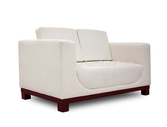 LEXIS TWO SEATER OFFICE SOFA C/W EPOXY METAL BASE ACL 9933-2