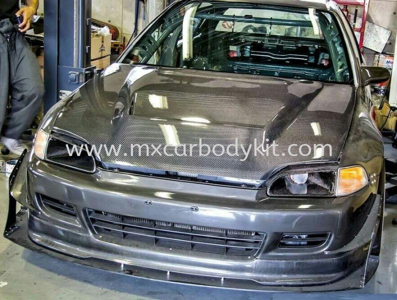 HONDA CIVIC EG 1993 JS RACING CARBON HOOD BONNET  CIVIC 1993 EG HONDA Johor, Malaysia, Johor Bahru (JB), Masai. Supplier, Suppliers, Supply, Supplies | MX Car Body Kit