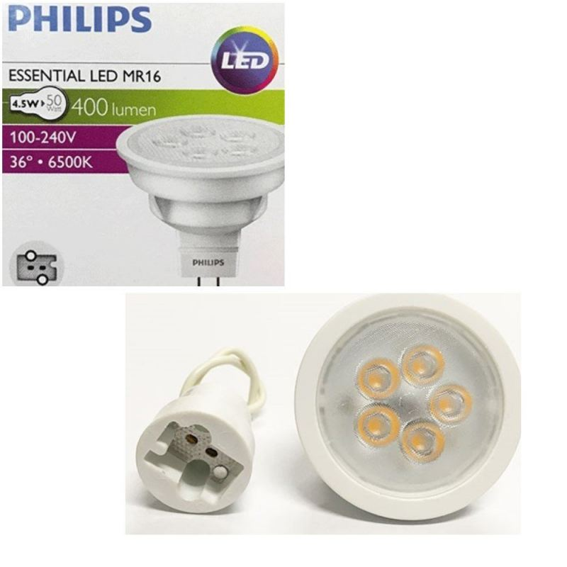 PHILIPS ESSENTIAL LED 4.5W MR16 (100-240V) WARM WHITE 3000K